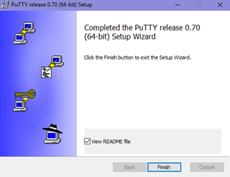 PuTTY Installed on Windows Operating System