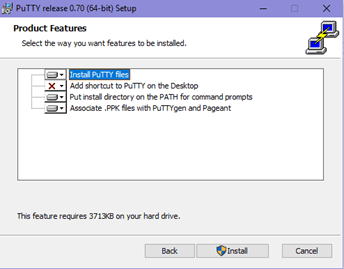 Install PuTTY Files