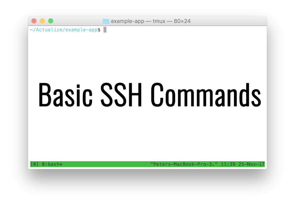 Image showing a basic ssh commands